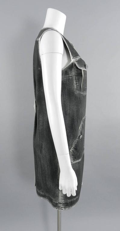 Chanel 14S Runway Grey Distressed Denim Vest For Sale 1