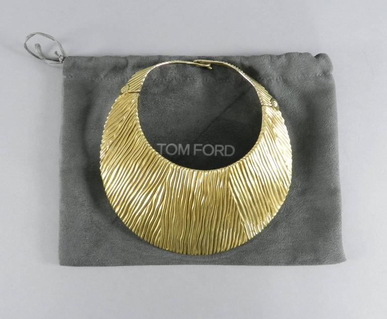 Tom Ford Huge Sterling Vermeil Statement Collar Necklace  In Excellent Condition For Sale In Toronto, ON