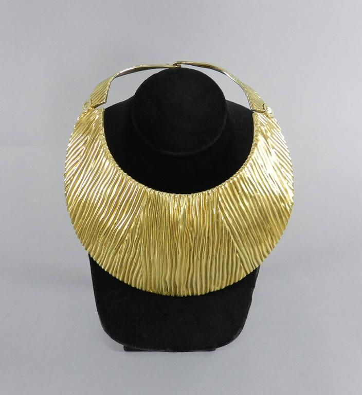 Women's Tom Ford Huge Sterling Vermeil Statement Collar Necklace  For Sale