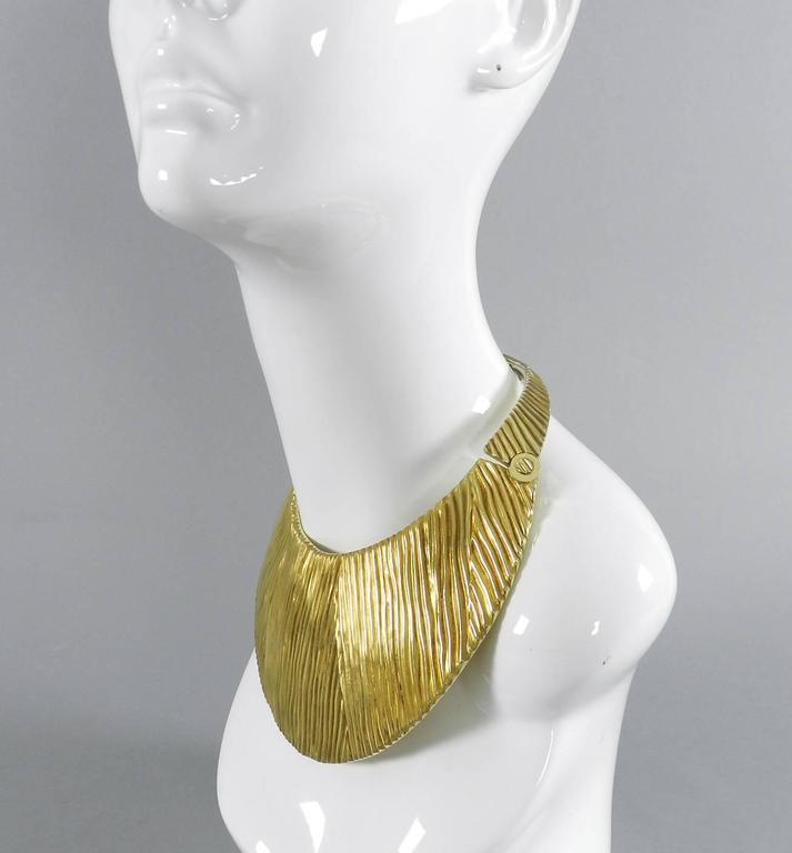 Tom Ford Huge Sterling Vermeil Statement Collar Necklace  5