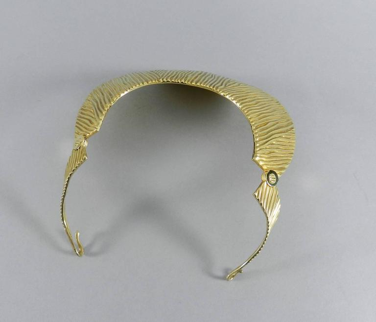 Tom Ford Huge Sterling Vermeil Statement Collar Necklace  7