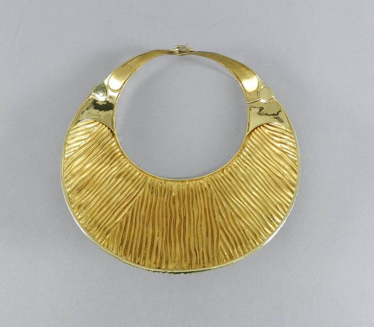 Tom Ford Huge Sterling Vermeil Statement Collar Necklace  8