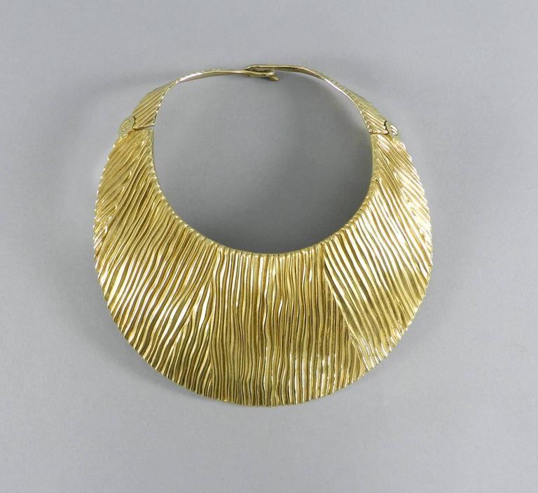 Tom Ford Huge Sterling Vermeil Statement Collar Necklace  10