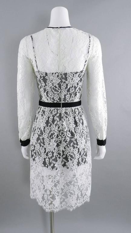 Gray Erdem resort 2014 White Lace 1950s style Dress For Sale