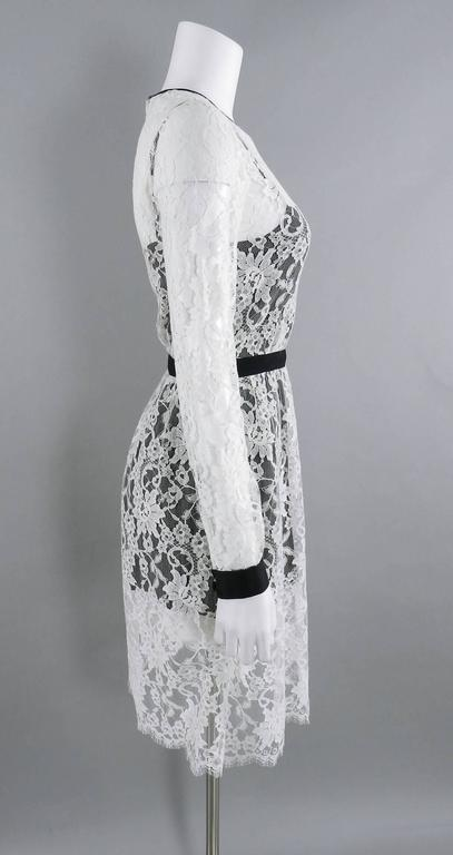 Erdem resort 2014 White Lace 1950s style Dress In Excellent Condition For Sale In Toronto, CA
