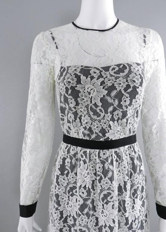 Women's Erdem resort 2014 White Lace 1950s style Dress For Sale