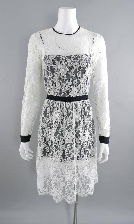 Erdem resort 2014 White Lace 1950s style Dress For Sale 2