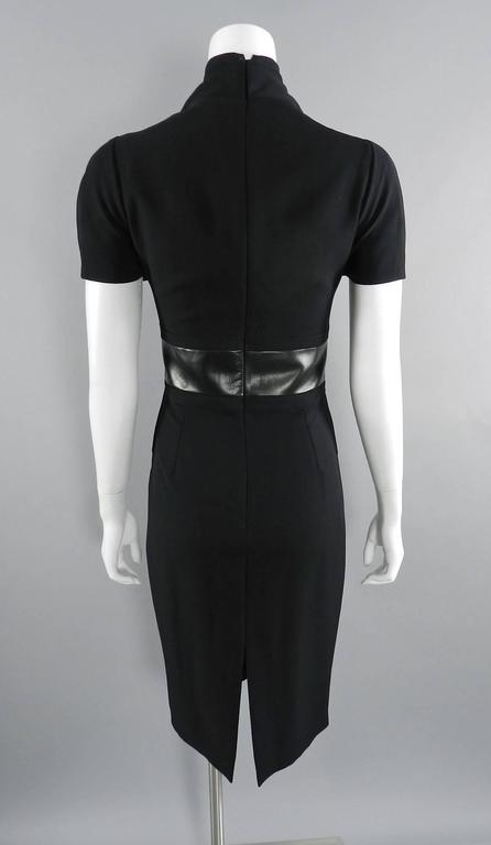 Gucci Fall 2013 runway Black Hourglass Dress with Leather Waist For Sale 1