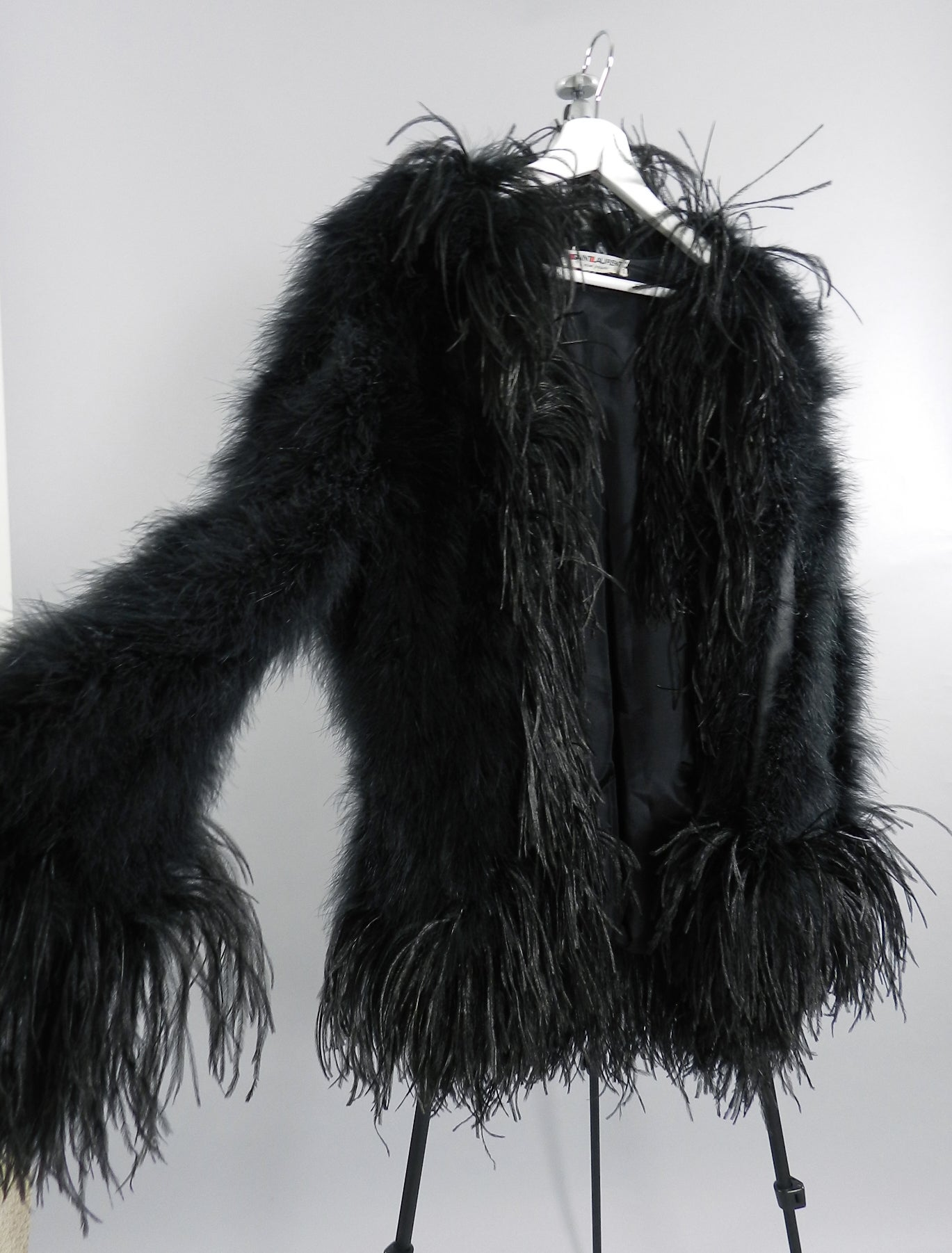 0b1c491222a Yves Saint Laurent Vintage 1970's Maribou and Ostrich Feather Glam Jacket  at 1stdibs