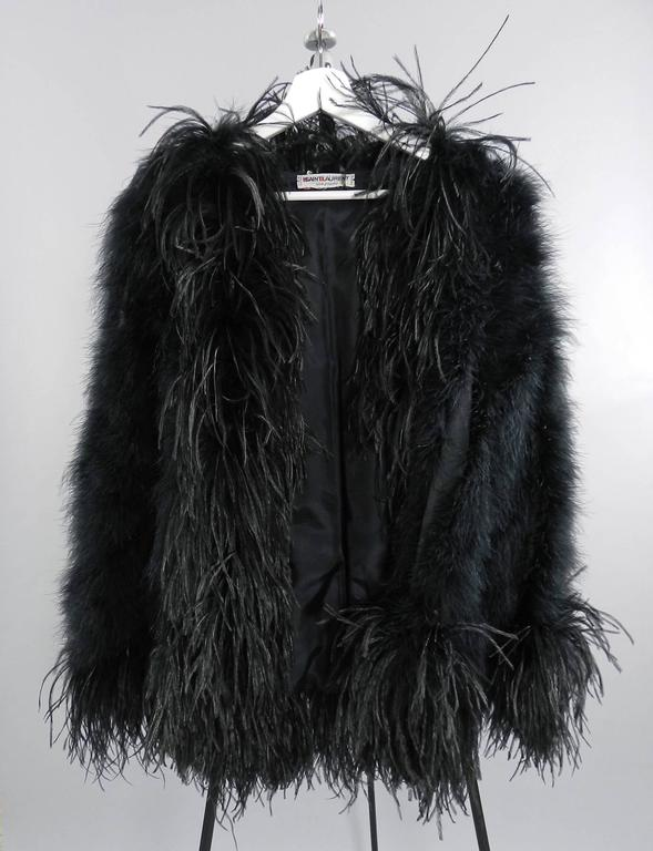 Yves Saint Laurent Vintage 1970's Maribou and Ostrich Feather Glam Jacket 4