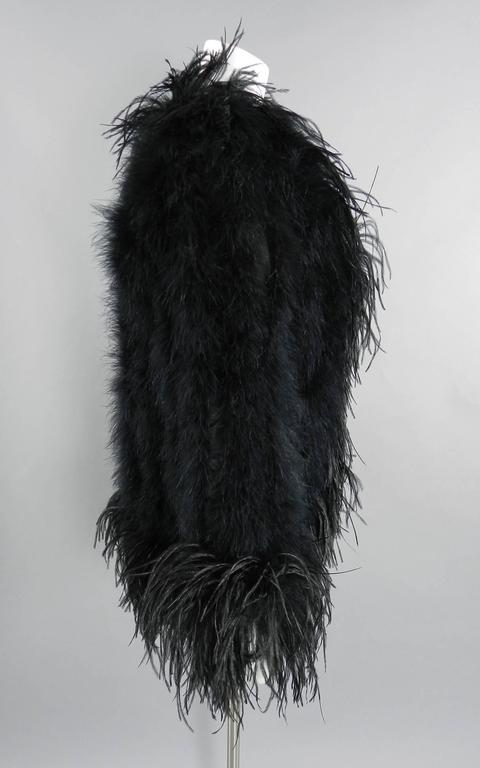 Yves Saint Laurent Vintage 1970's Maribou and Ostrich Feather Glam Jacket 5