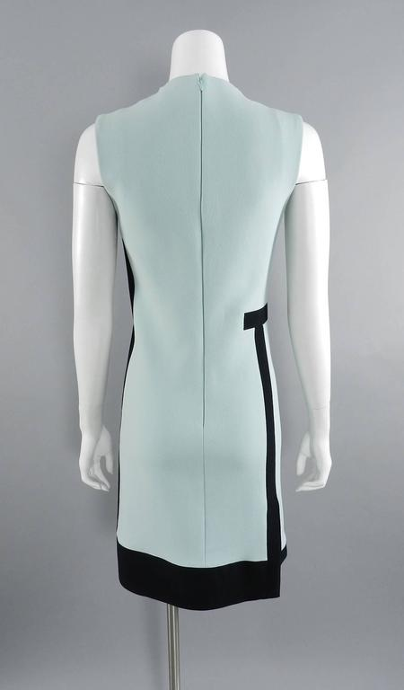 Balenciaga Light Blue and Black Geometric Dress For Sale 1