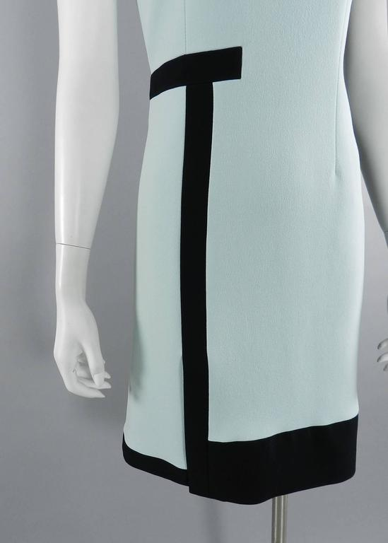 Balenciaga Light Blue and Black Geometric Dress For Sale 2