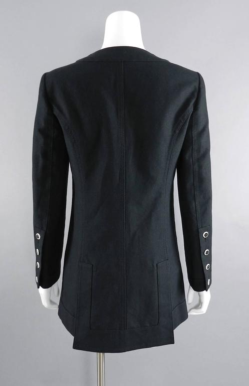 Chanel 14C Black Jacket with White Porcelain CC Buttons 3