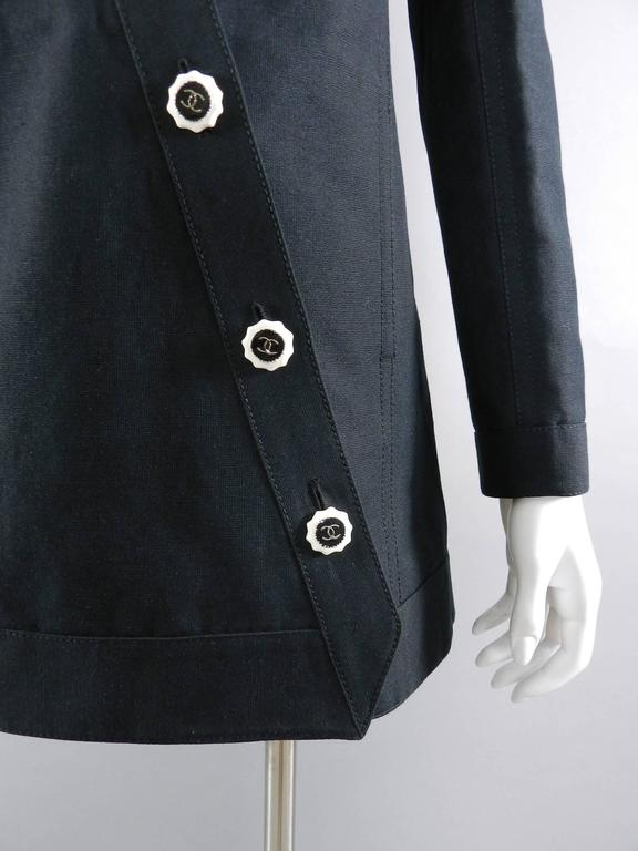 Chanel 14C Black Jacket with White Porcelain CC Buttons 4
