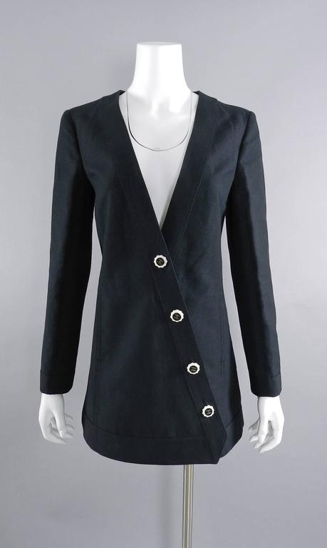 Chanel 14C Black Jacket with White Porcelain CC Buttons 9