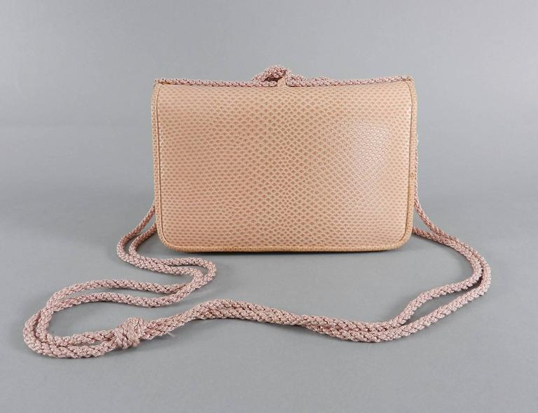 Judith Leiber Pink Lizard Bag with Tassels 3