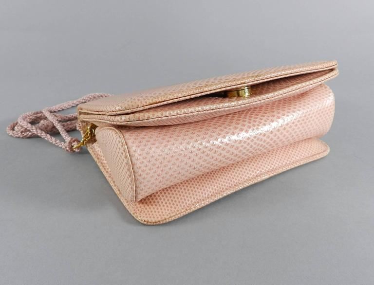 Judith Leiber Pink Lizard Bag with Tassels 4