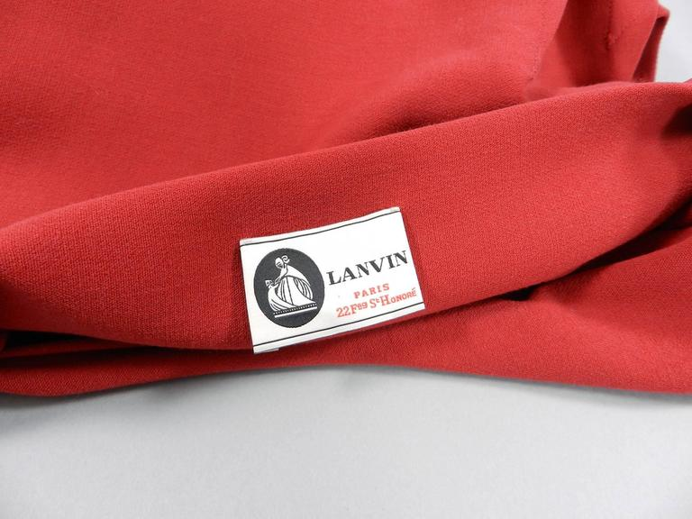 Lanvin Red Fitted Dress with Raw Edges 6
