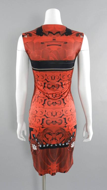 Red Mary Katrantzou Silk Jersey Typewriter Dress For Sale