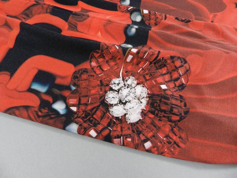 Women's Mary Katrantzou Silk Jersey Typewriter Dress For Sale
