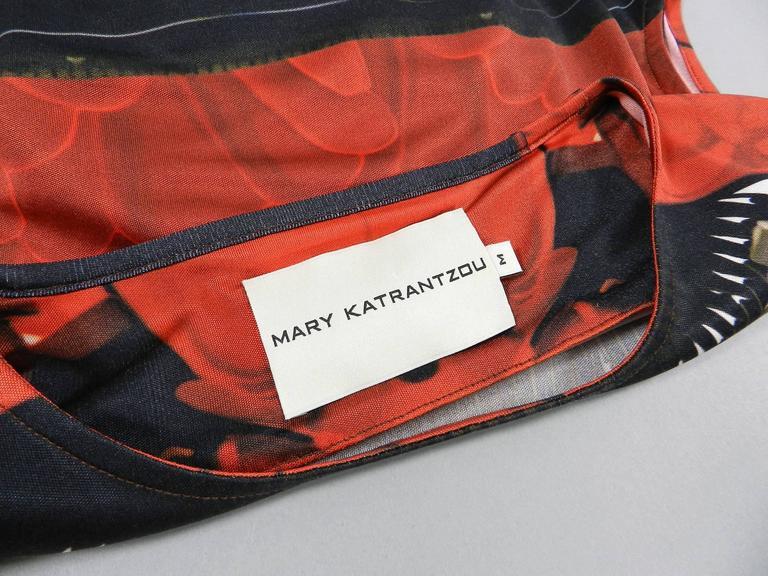 Mary Katrantzou Silk Jersey Typewriter Dress For Sale 1