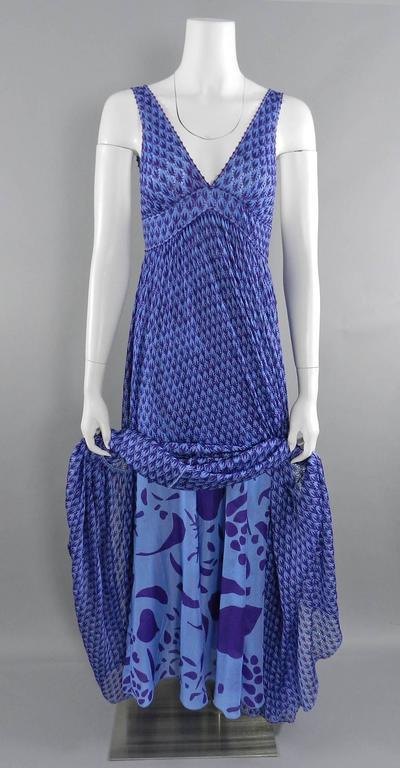 Missoni Runway Purple Knit Resort Maxi Dress / Gown 5
