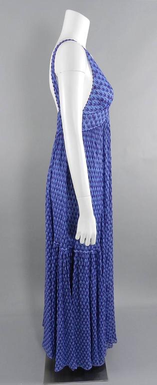 Missoni Runway Purple Knit Resort Maxi Dress / Gown 6