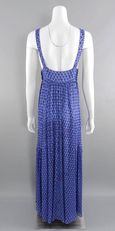 Missoni Runway Purple Knit Resort Maxi Dress / Gown 7
