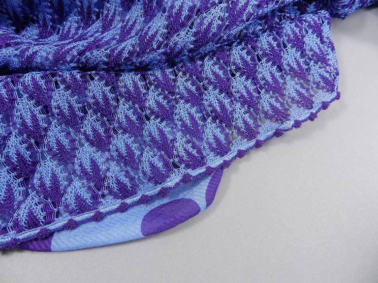 Missoni Runway Purple Knit Resort Maxi Dress / Gown 9
