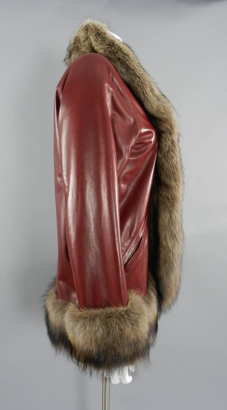 Yves Saint Laurent Vintage Aw 1998 Haute Couture Red