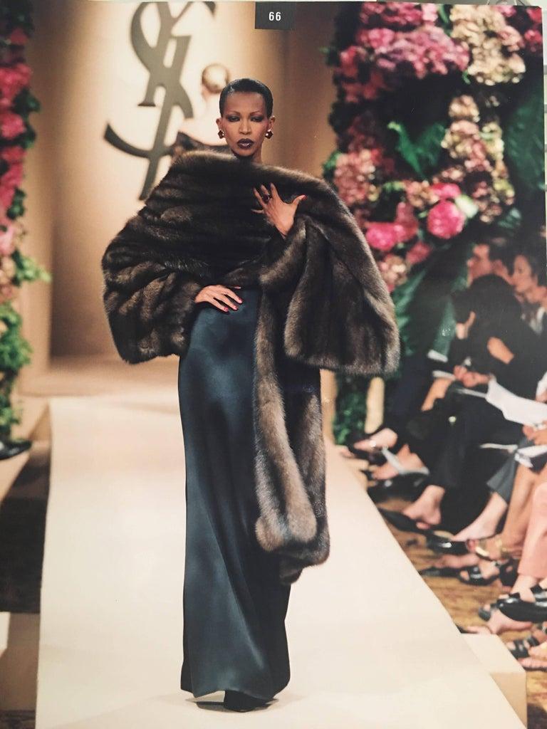 Yves Saint Laurent 1990's Haute Couture Russian Barguzin ...