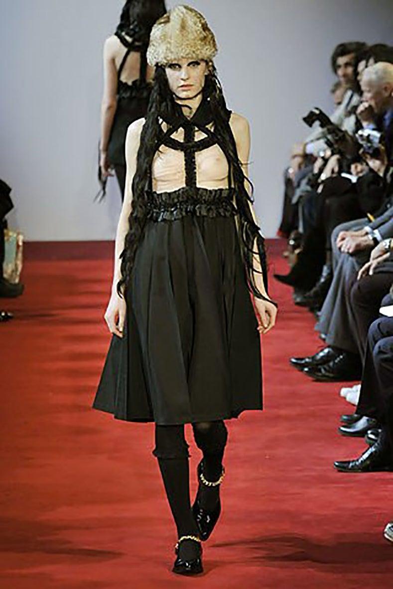 9f0c42402dd Comme des Garcons Fall 2008 Runway Black ribbon Suspender Dress at 1stdibs