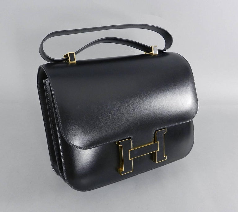 3cf563b0efc8 Hermes Limited Edition Constance Cartable Black Box Leather with Gold  Hardware. 29cm. The bag