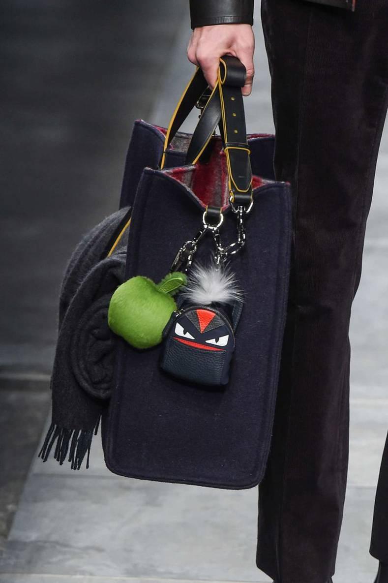 Fendi Fall 2015 Micro Monster Backpack Bag Bug Charm 7OAAp