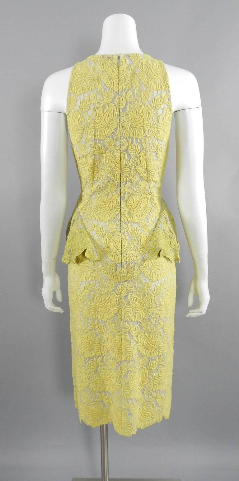 362e8ac217b Stella McCartney Yellow Lace Peplum Cocktail Dress at 1stdibs