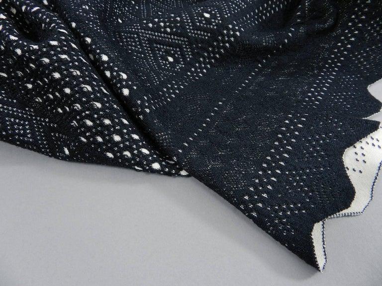 Alexander McQueen Black Lace Jacquard Knit Off Shoulder Dress For Sale 5