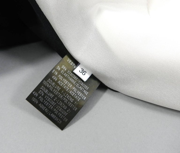 Mugler Resort 2017 Black White Silver Metallic Leather Color Block Jacket For Sale 2