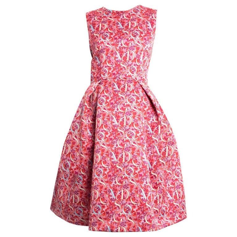 Mary Katrantzou Pink Alphabet Cocktail Dress