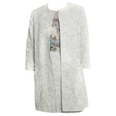 Erdem Pale Blue Guipure Lace Cocktail Coat - 8