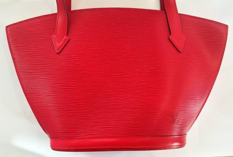 9e685e98 Red EPI Leather St. Jacques Louis Vuitton handbag bag purse