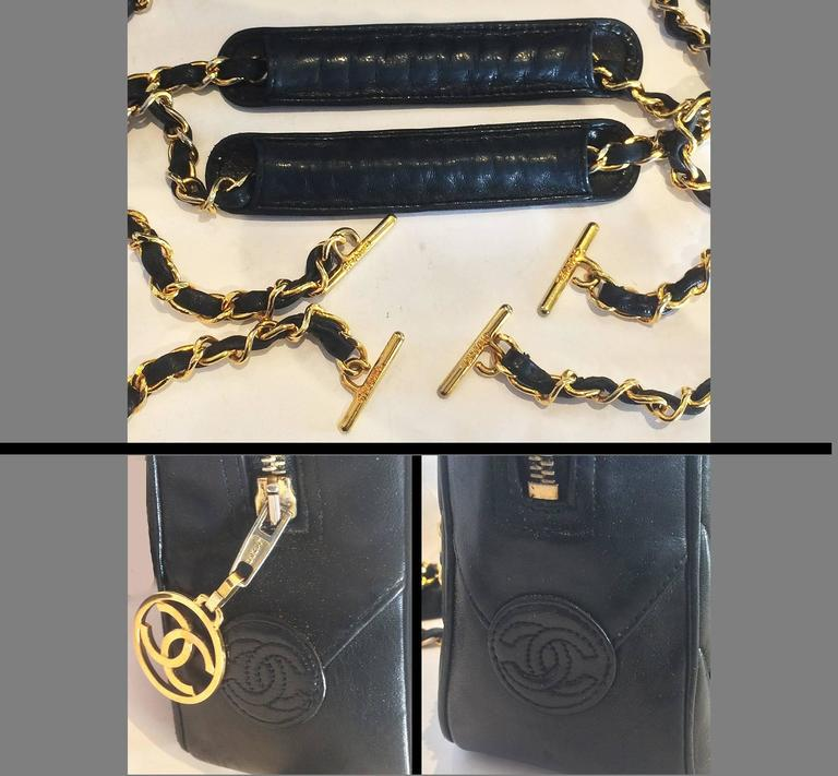 Authentic Chanel Black V Stitch Handbag Bag For Sale 1
