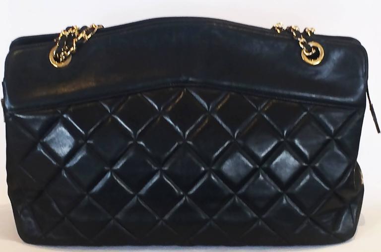 Handbag Chanel Jumbo XL Shopper. Black Matelasse 3
