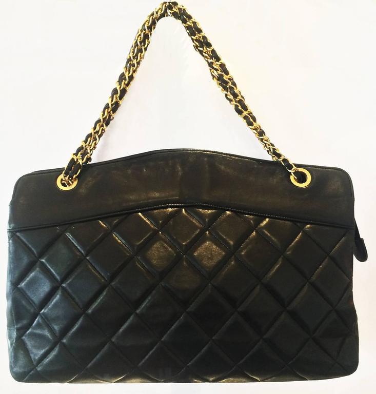 Handbag Chanel Jumbo XL Shopper. Black Matelasse 2