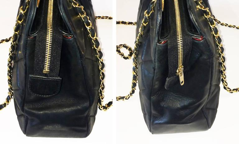Handbag Chanel Jumbo XL Shopper. Black Matelasse 4