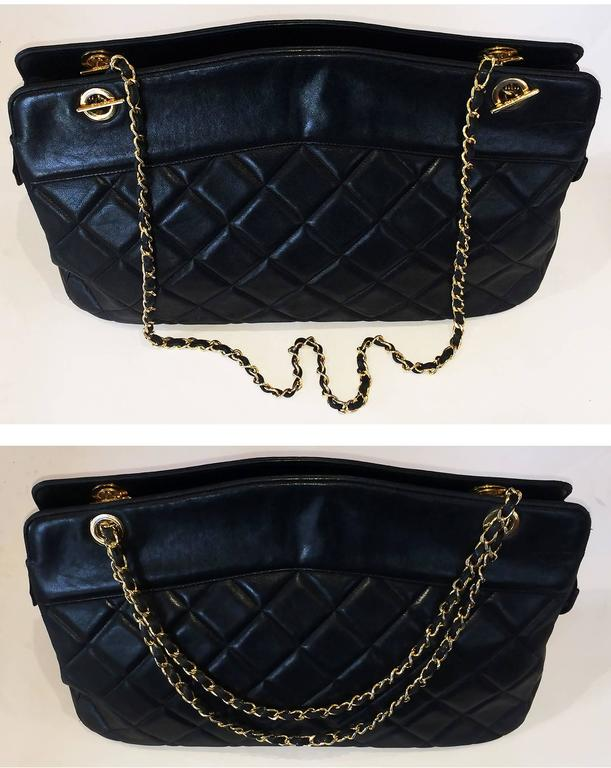 Handbag Chanel Jumbo XL Shopper. Black Matelasse 5