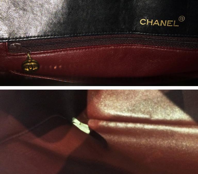 Handbag Chanel Jumbo XL Shopper. Black Matelasse 6