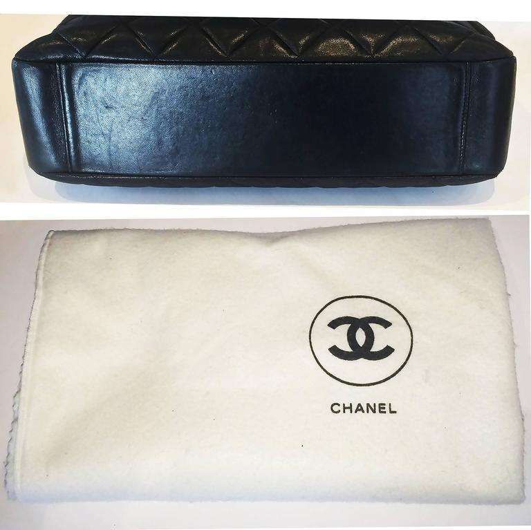 Handbag Chanel Jumbo XL Shopper. Black Matelasse 7