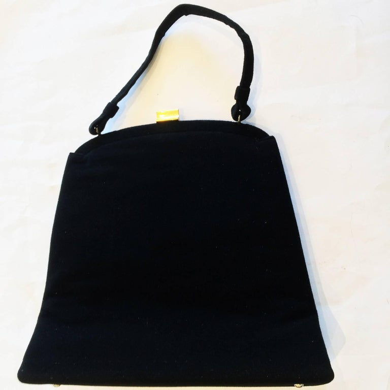 Black Rare Poodle Purse Handbag made by Soure New York For Sale