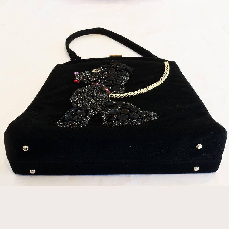 Women's Rare Poodle Purse Handbag made by Soure New York For Sale